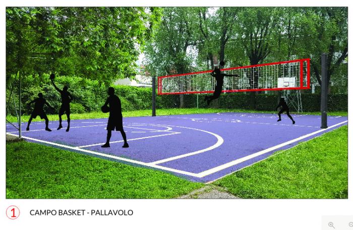 Campo basket-pallavolo